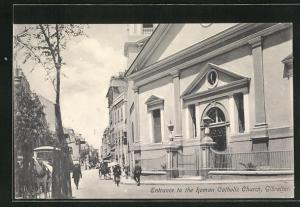 AK Gibraltar, Entrance to the Roman Catholic Church