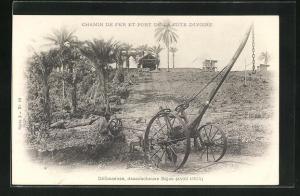 AK küste, Chemin de fer et Port de la Cote d`Ivoire, Defonceuse, dessoucheuse Bajac