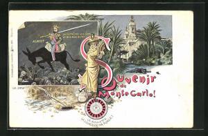 Lithographie Monte Carlo, Albert La supreme loi cest la bourse du roi, Le Jeu