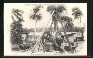 AK Abidjan, Chemin de fer et Port, Concasseur, trieur, laveur