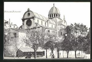AK Sebeniko, Blick auf Kathedrale