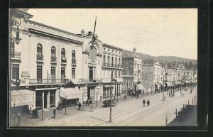 AK Valparaiso, Calle Victoria, Strassenpartie im Zentrum