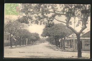 AK Nouméa, L`Avenue Wagram, Strassenpartie