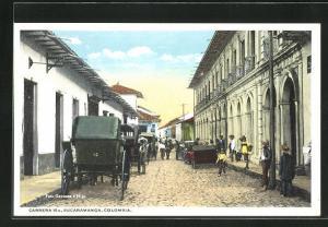 AK Bucaramanga, Carrera 10 A, Kutschen in einer Strasse