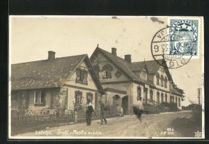 AK Ergli, Pasta nodala, Strassenpartie mit Postamt