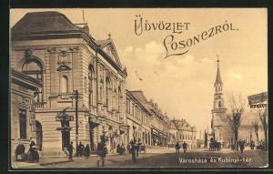 AK Losoncz, Városháza és Kubinyi-tér