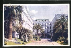 AK Monte-Carlo, Entrée de l`Hotel et Jardins