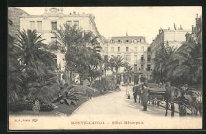 AK Monte-Carlo, Ansicht vom Hotel Métropole