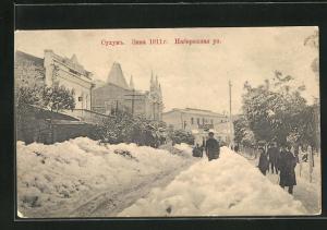 AK Soukhoum, Rue Nabershnaia, Hiver 1911