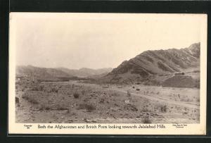 AK Jalalabad, Afghanistan and British Posts looking towards Jalalabad Hills