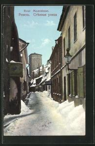 AK Reval, Mauerstrasse im Winter