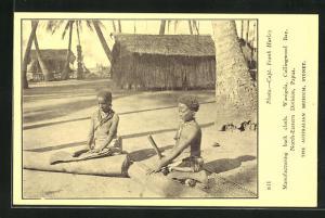 AK Wanigela, Collongwood Bay, Papua, einheimische Frauen bei Handarbeit