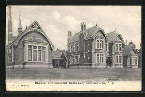 AK Christchurch, Rhodes` Convalescent Home, Gebäudeansicht