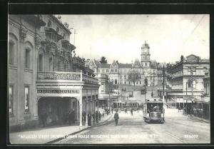 AK Auckland, Wellesley Street showing Opera House & Municipal Buildings