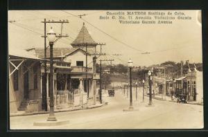 AK Santiago de Cuba, Victoriano Garzón Avenue, Strassenpartie