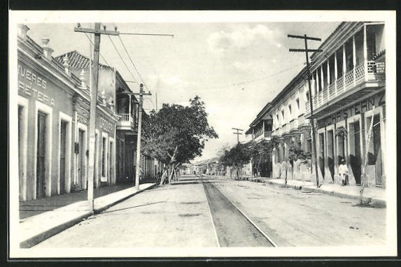 AK Maracaibo, Calle Ancha, Blick in die Strasse 0