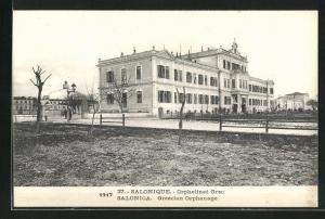 AK Salonique & Salonica, Greecian Orphanage, griechisches Waisenhaus