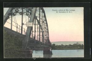 AK Puente sobre el Rio Lempa, Brücke