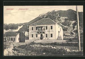 AK Niegoch, Grand Hotel, Gebäudeansicht