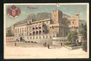 Lithographie Monaco, Le Palais du Prince