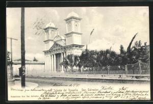 AK San Salvador, Iglesia del Rosario, Motiv der Kirche