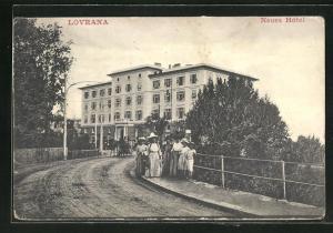 AK Lovrana, Neues Hotel, Gebäudeansicht