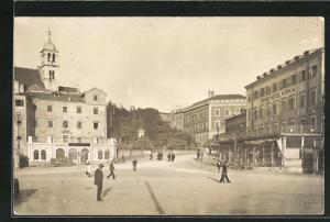 AK Sibenik / Sebenico, Partie mit Bank und Grand Hotel Krka
