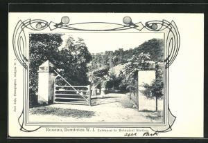 AK Roseau / Dominica, Entrance to Botanical Station