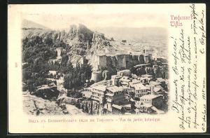 AK Tiflis, Vue du jardin botanique