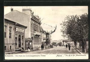 AK Plevna, Vue de la Rue Alexandrowska