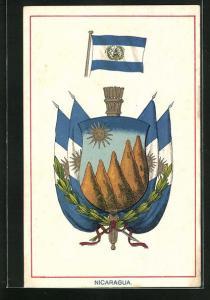AK Nicaragua, Landesfahne und Wappen