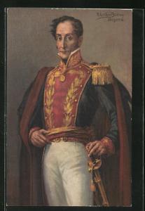 AK Bogota, Portrait von A. Acevedo Bernal in Uniform