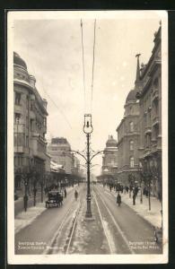 AK Belgrade, Rue du Roi Milan en hiver