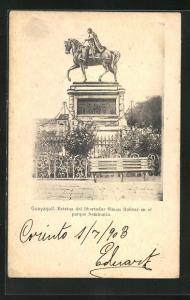AK Guayaquil, Estatua del libertador Simon Bolivar en el parque Seminario