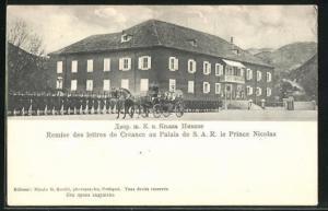 AK Cetinje / Cettigne, Remise des lettres de Créance au Palais de S. A. R. le Prince Nicolas