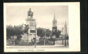 AK Guayaqail, Estatua de Olmedo