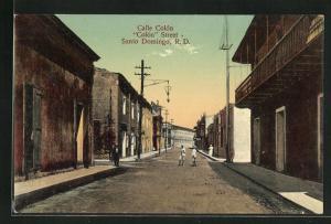 AK Santo Domingo / R. D., Calle Colon