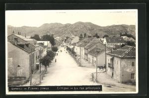 AK Cettigne, La rue principale