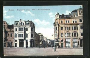 AK Sofia, Rue de Commerce, Strassenpartie