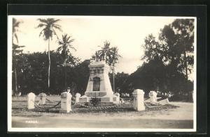 AK Tanga, Partie am Denkmal