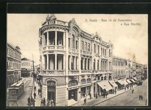 AK Sao Paulo, Rua 15 de Novembro e Rua Direita
