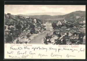 AK Koutais, Panoramablick auf die Ortschaft