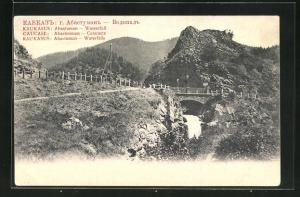 AK Abastuman, Brücke über den Wasserfall