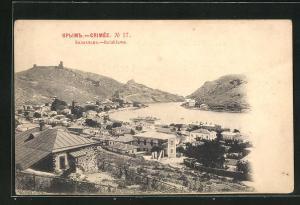 AK Balaklawa / Krim, Panoramablick auf die Ortschaft