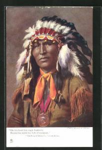 AK The Song of Hiawatha - Longfellow, First Nation, Federschmuck