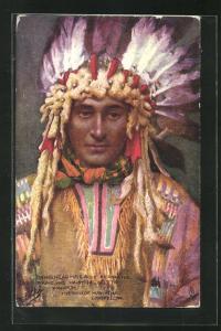 AK The Songs of Hiawatha - Longfellow, Angehöriger der Urbevölkerung von Nordamerika, First Nation