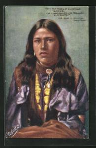 AK The Song of Hiawatha - Longfellow, With her Moods of shade and sunshine..., First Nation