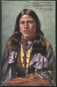 AK The Song of Hiawatha - Longfellow, Angerhörige der Urbevölkerung von Nordamerika, First Nation
