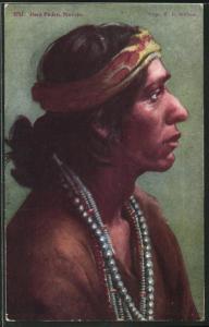 AK Juan Pedro, a Navajo, Profilportrait, First Nation