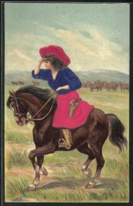 Seiden-AK Cowgirl bei der Arbeit
